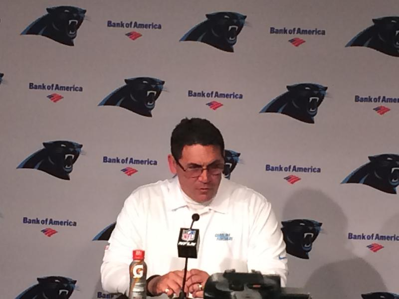 Coach Ron Rivera after the loss.