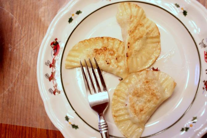 Pierogi ready to be eaten!