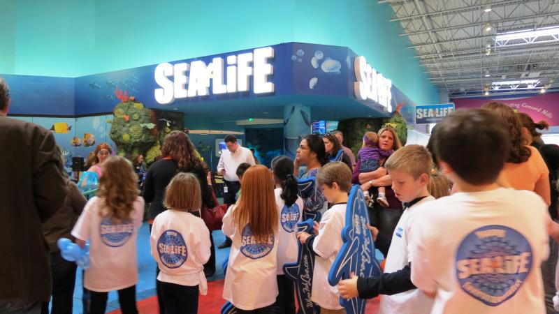 Construction on the Sea Life aquarium began in the summer of 2013. The decision to build the $10 million aquarium was made in March 2013.