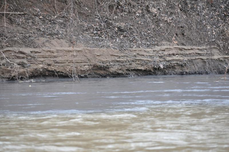 Coal ash in the Dan River, February 4, 2014