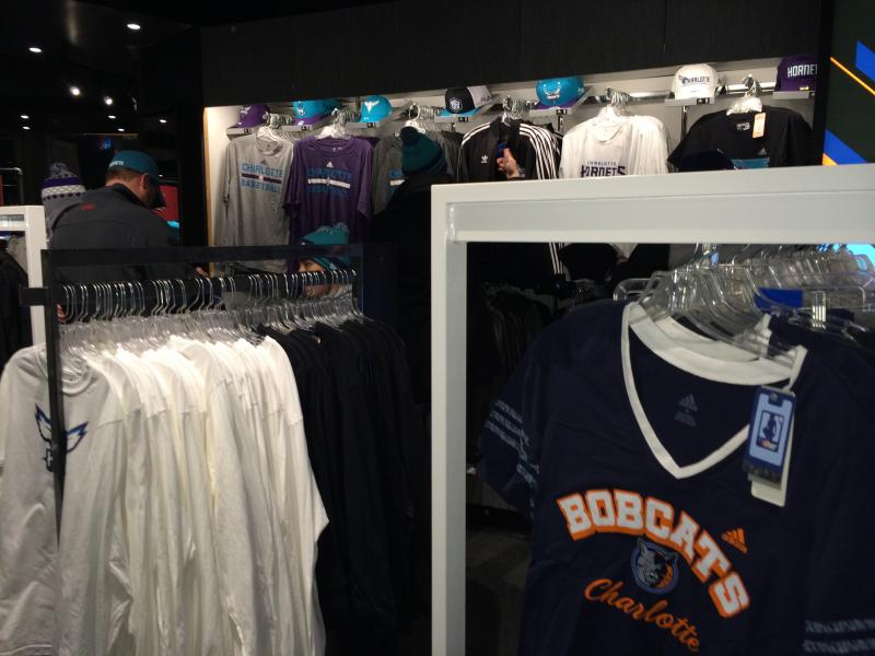 Bobcats gear already takes up a small part of the team store.