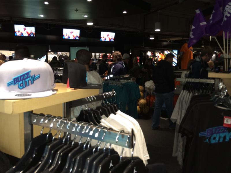 Another view from the Bobcats' team store.