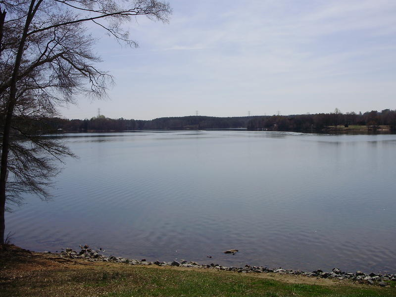 Mt. Island Lake, the source of Charlotte's drinking water.