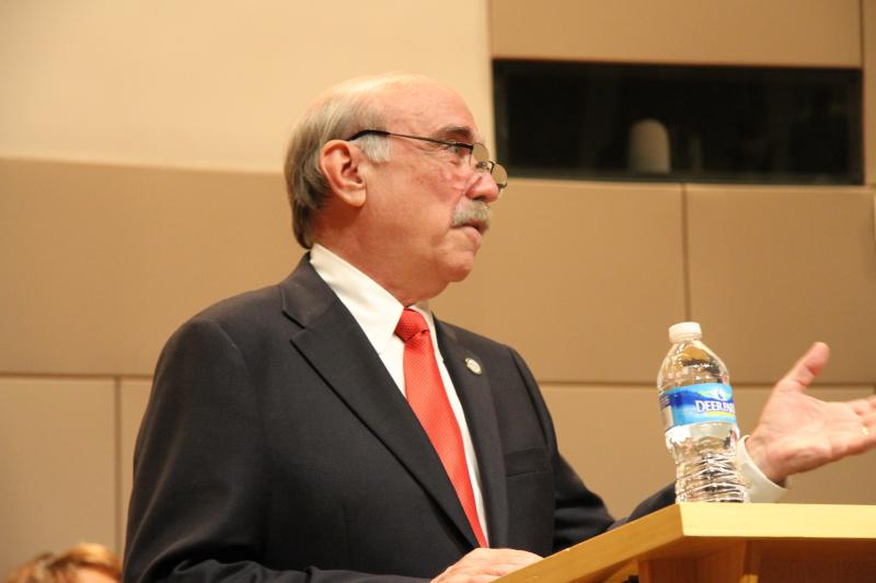 In his speech, Mayor Clodfelter said he was shocked and saddened by the Cannon scandal