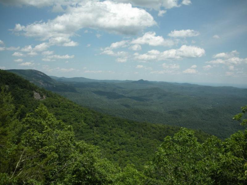 The Blue Ridge Mountains near Cashiers, North Carolina.