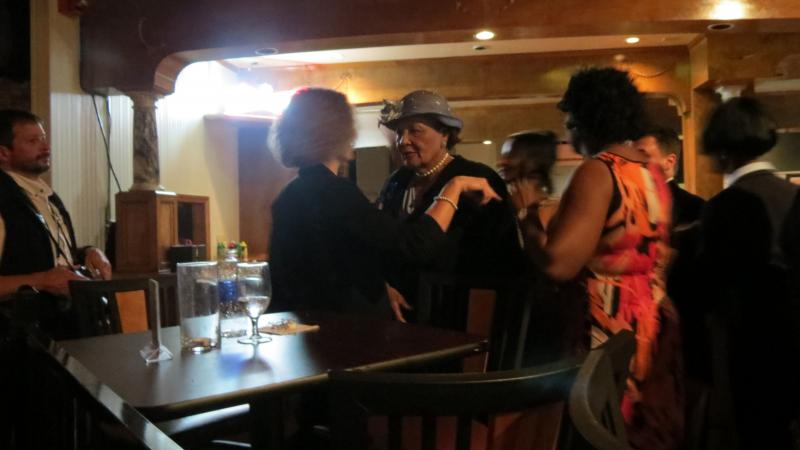 Alma Adams speaks to a supporter in Greensboro, N.C., May 6, 2014
