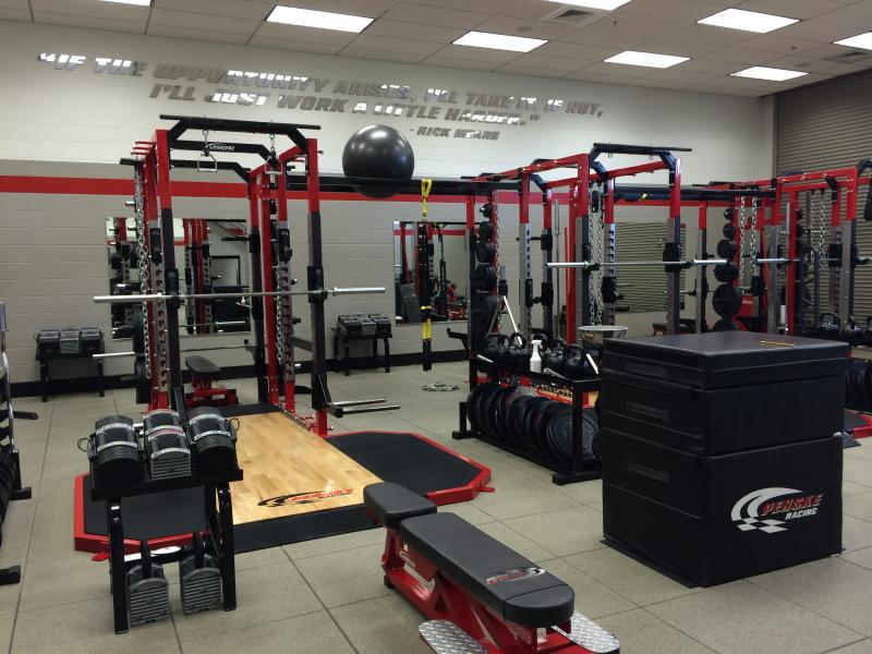 Penske Racing opened a new gym for its pit crew last year.