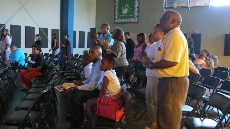 Part of the crowd at GeneratiONE Church Charlotte on June 14 - the third Saturday worship service since its launch.