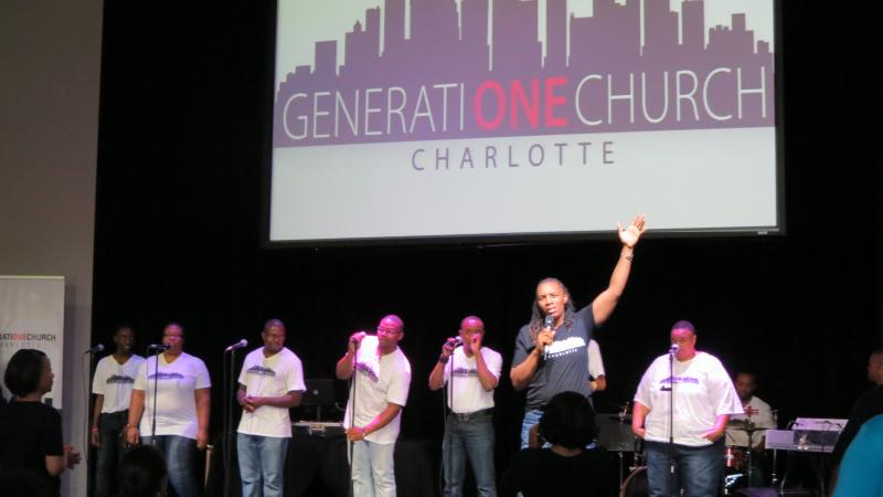 A DJ leads worship at GeneratiONE Church Charlotte.