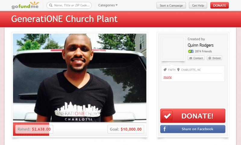 GeneratiONE Church Charlotte raised money to launch on May 31 using a crowdfunding website.