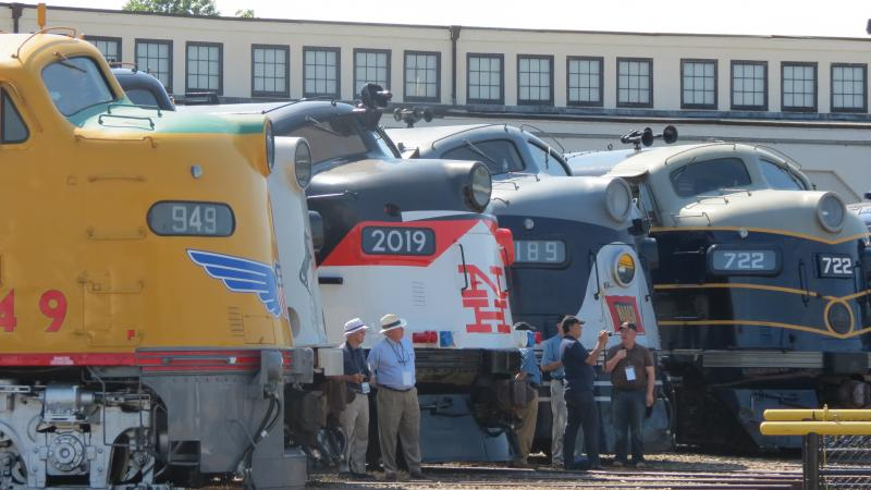 Twenty six restored streamliners from all over the country were on display at the North Carolina Transportation Museum in Spencer.