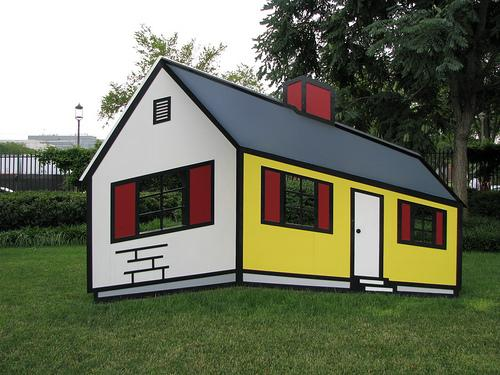 House I, 1996 Fabricated and painted aluminum by Roy Lichenstein.