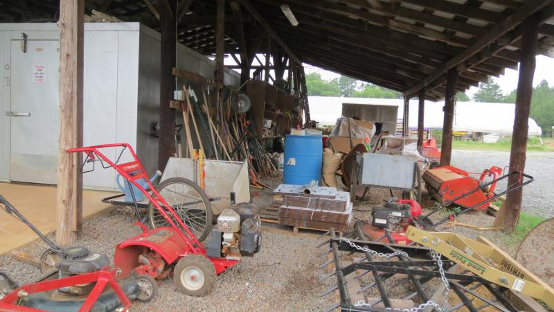 Some of the equipment at the Lomax that's shared among the farmers and community partners.