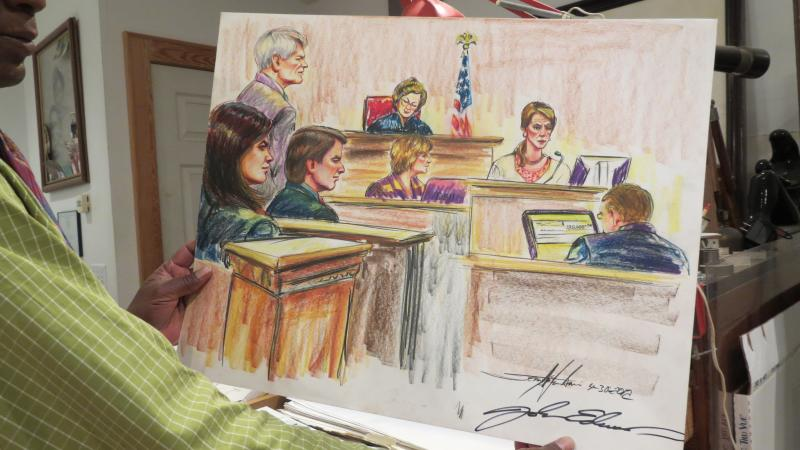 A scene from a trial in 2012 involving former Senator John Edwards in Greensboro.