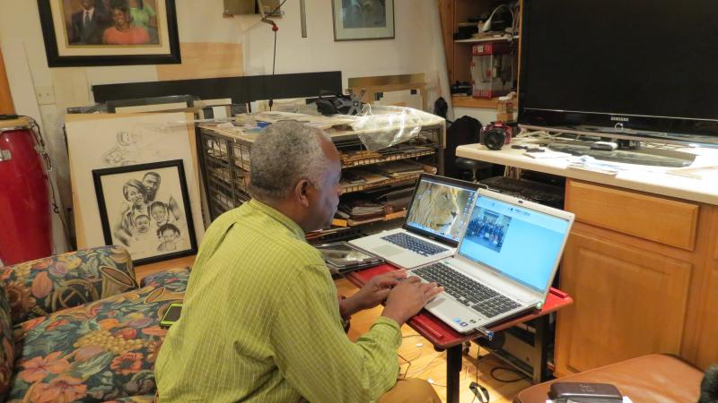 Jerry McJunkins at his studio in Plaza Midwood.