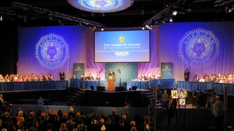 President Barack Obama spoke to a packed hall at the Charlotte Convention Center on Tuesday.