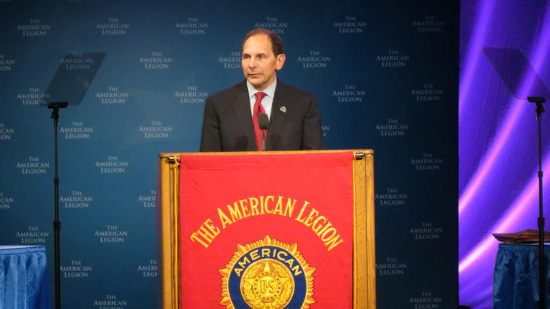 The new secretary of the VA, Robert McDonald, delivered remarks after the President on Tuesday afternoon in Charlotte.