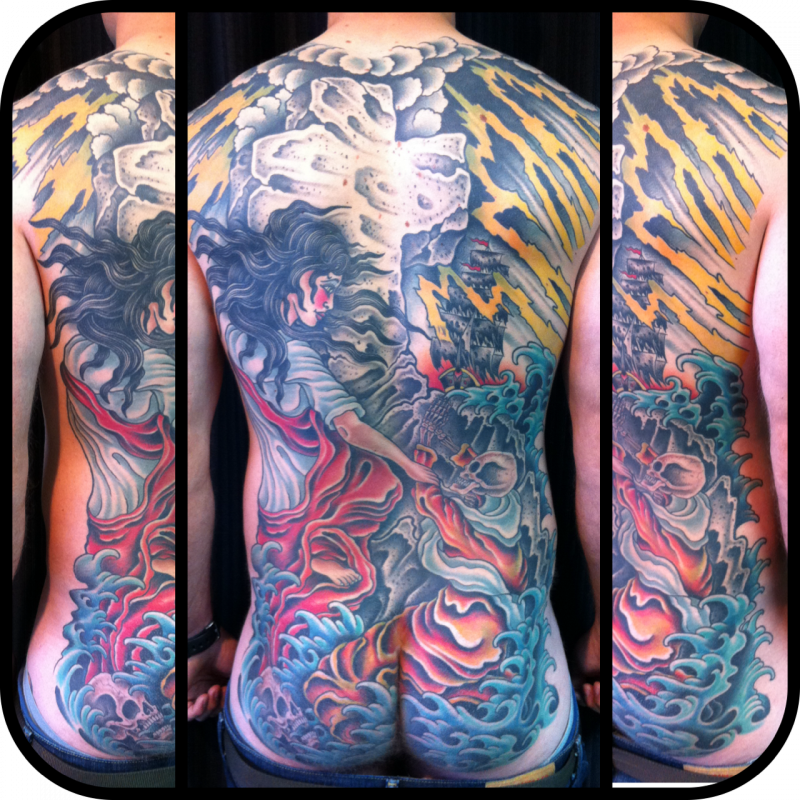 Full back piece.