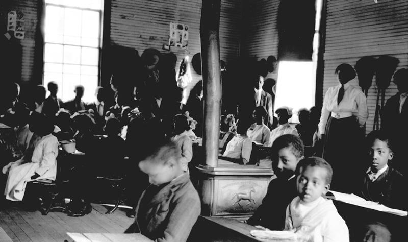 Undated photo of students at a Rosenwald School