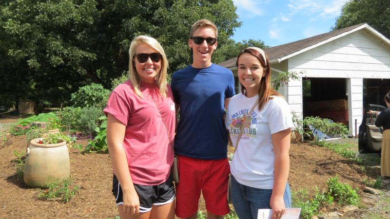 Bailey Brown, Charlie Rodgers and Mackenzie Morgan are visiting from Mallard Creek High School. Morgan is president of the Nutrition Club.