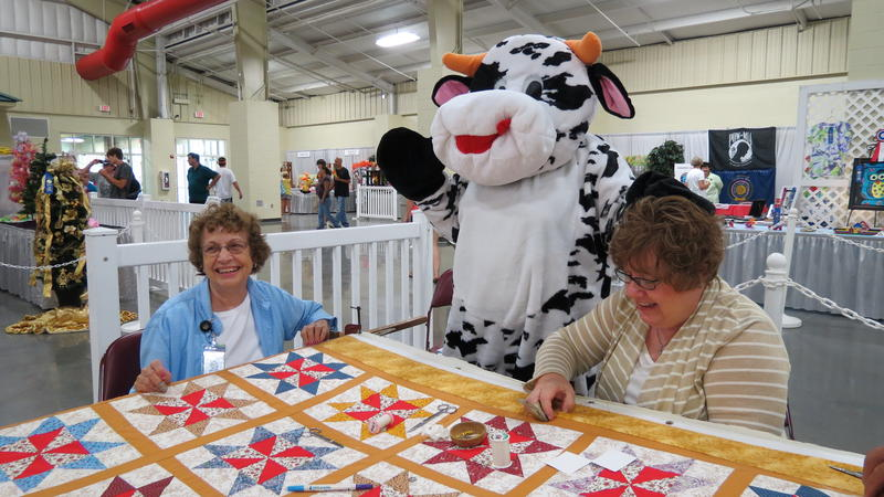 Every year, the Cabarrus County Extension & Community Association has made a new quilt at the fair. This is their 50th year at the fair.
