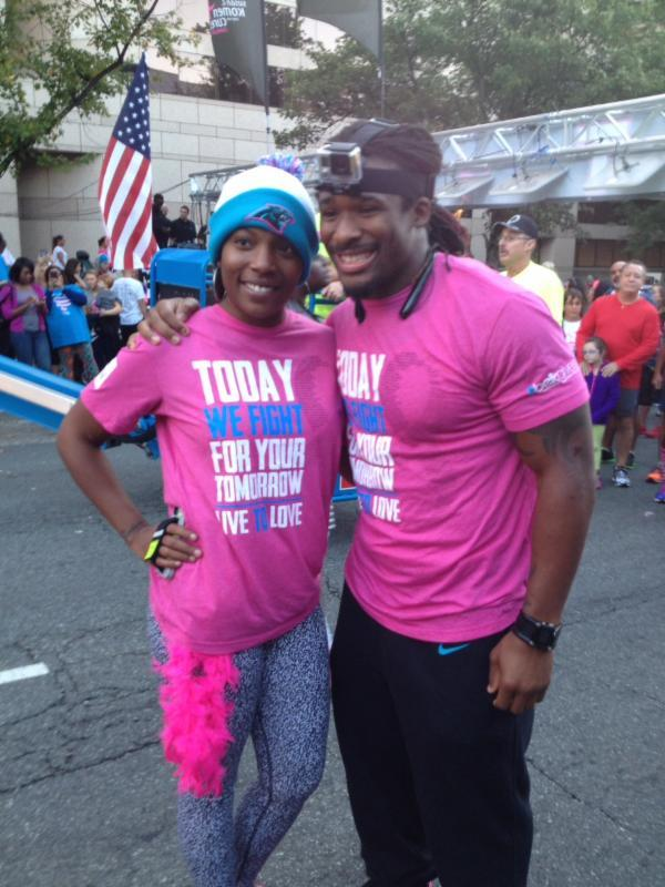 DeAngelo Williams and sister Garlanda Reed