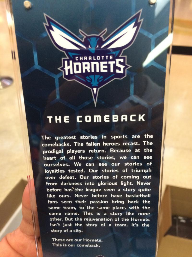 The commemorative ticket for the first game.