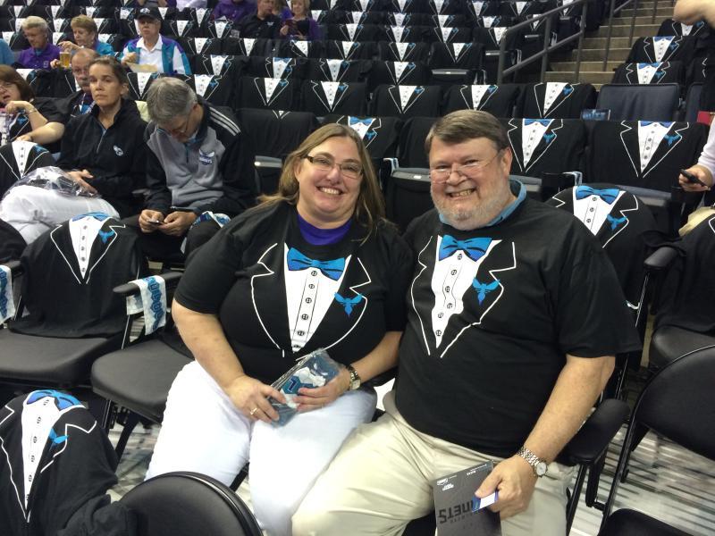 Kim and Roman Davis are original Hornets season-ticket owners.
