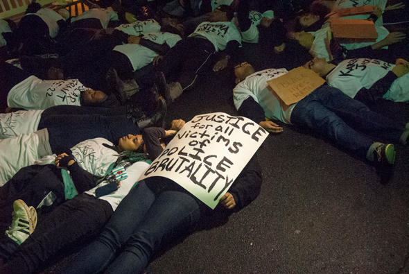 Black Lives Matter die-in protest in Davidson