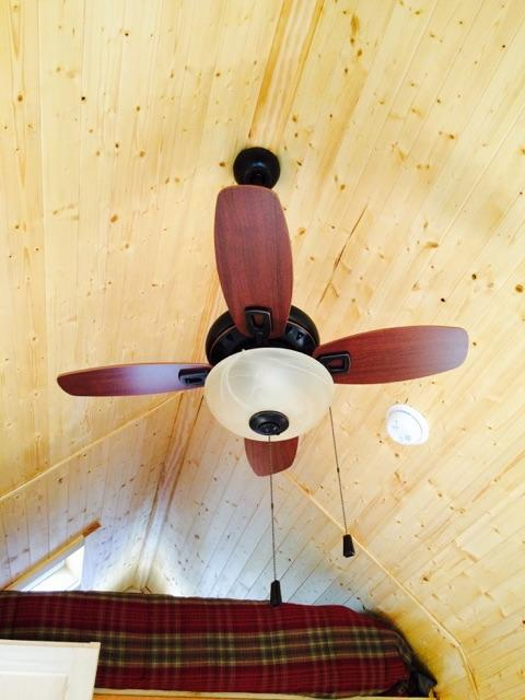 Tiny ceiling fan.