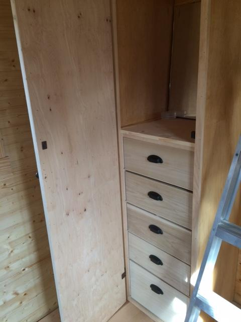 Ryan built this custom closet for his specific organizational needs.