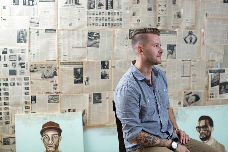 Kyle Mosher in his studio.