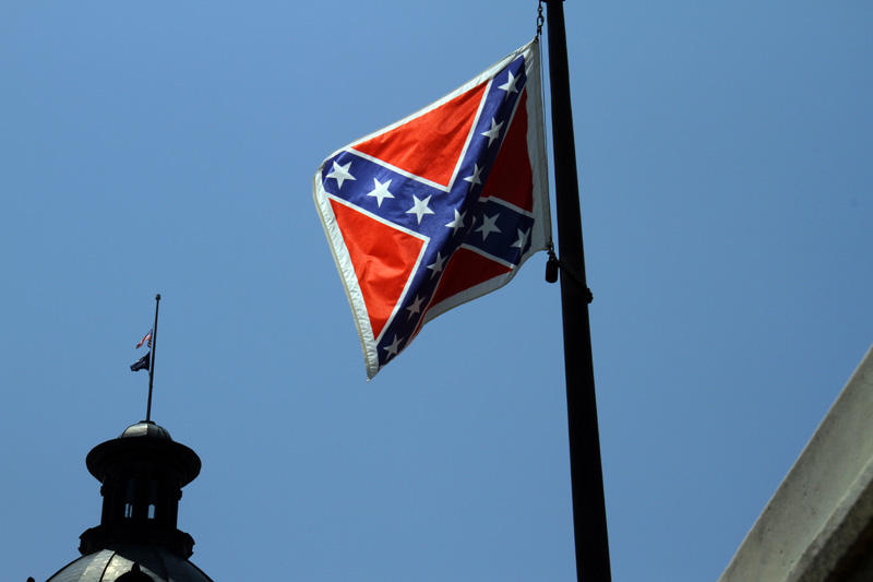 The Confederate flag on the grounds of the South Carolina capitol.