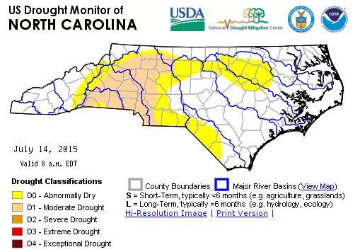 Drought Takes Hold In 20 North Carolina Counties WFAE