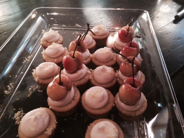 """Old Fashioned"" cupcakes with bouron soaked cheeries on top. Made by baker Laney Parrish."