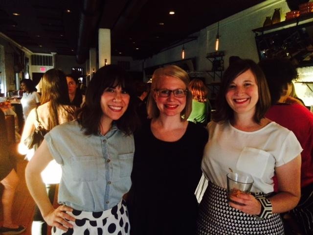 The founders of the Whiskey Women of Charlotte. From left, Kimberly Pace, Savannah Greer, and Amanda Fisher.