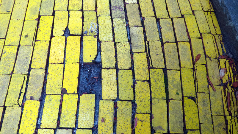 Missing brick from the yellow brick road.