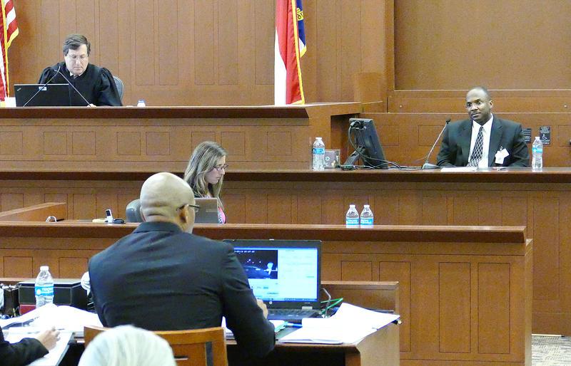 Officer Thornell Little testifies Thursday