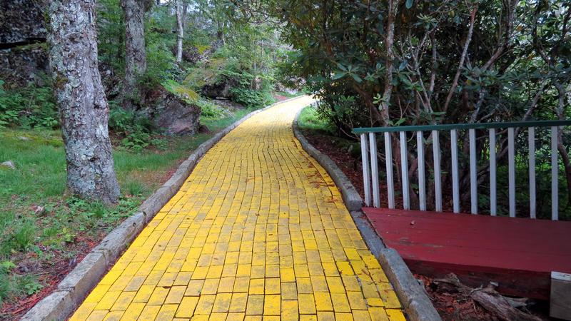 Follow the yellow brick road.
