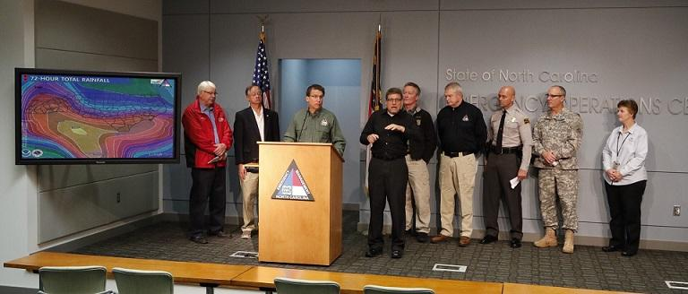 Governor McCrory talks about storm damage