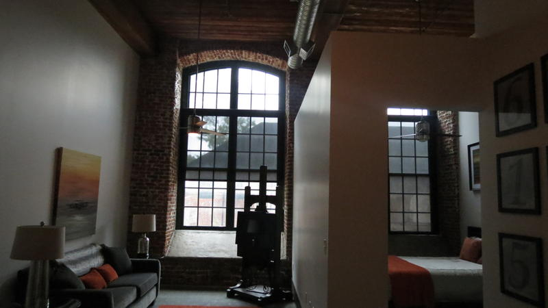 Loft apartment at the redeveloped Loray Mill