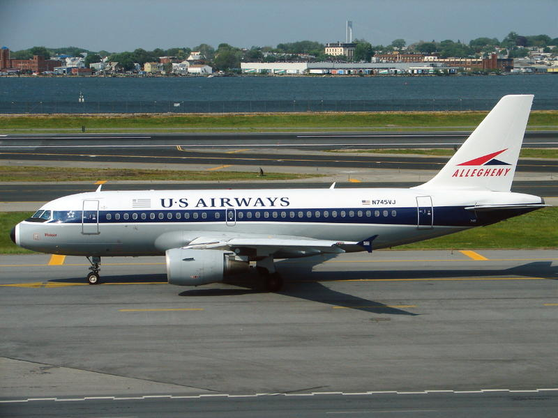 The flight originates in Philadelphia, a nod to when the airline was known as Allegheny AIrway