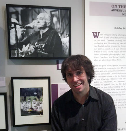 Daniel Coston with his Johnny Cash photo