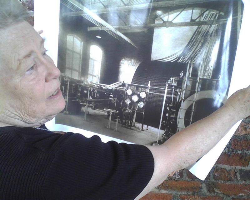 Lucy Penegar gives tours of the mill and is glad to see it renovated