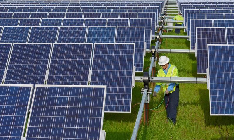 Duke Energy Solar farm near Elizabeth City NC