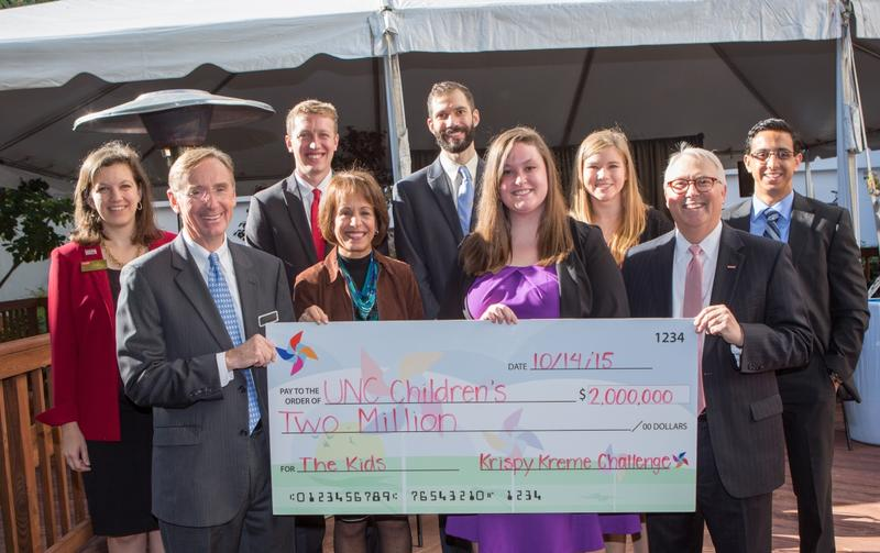 The clinic naming opportunity represents the Krispy Kreme Challenge's commitment to raise a total of $2 million for UNC Children's.