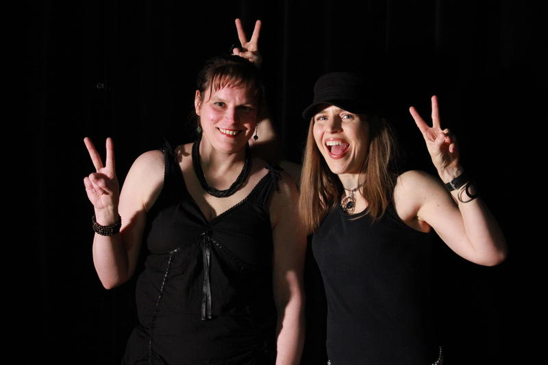 Bassist Christine  Lukowitsch and guitarist Shayna Cashner.