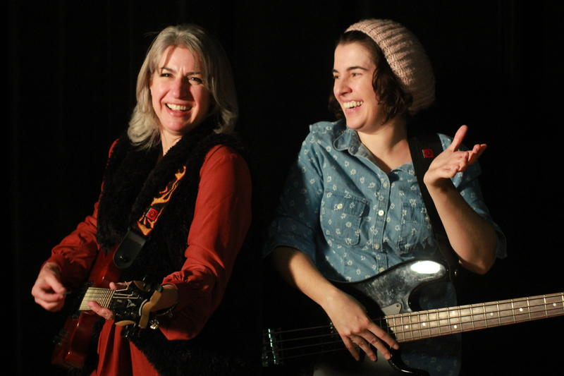 Guitarist Laura Highfill and bassist Joanne Spataro.