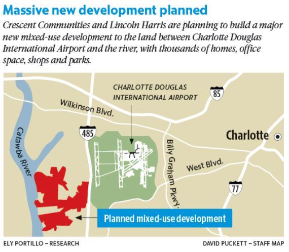 Enormous Development Planned Between Airport and Catawba River WFAE