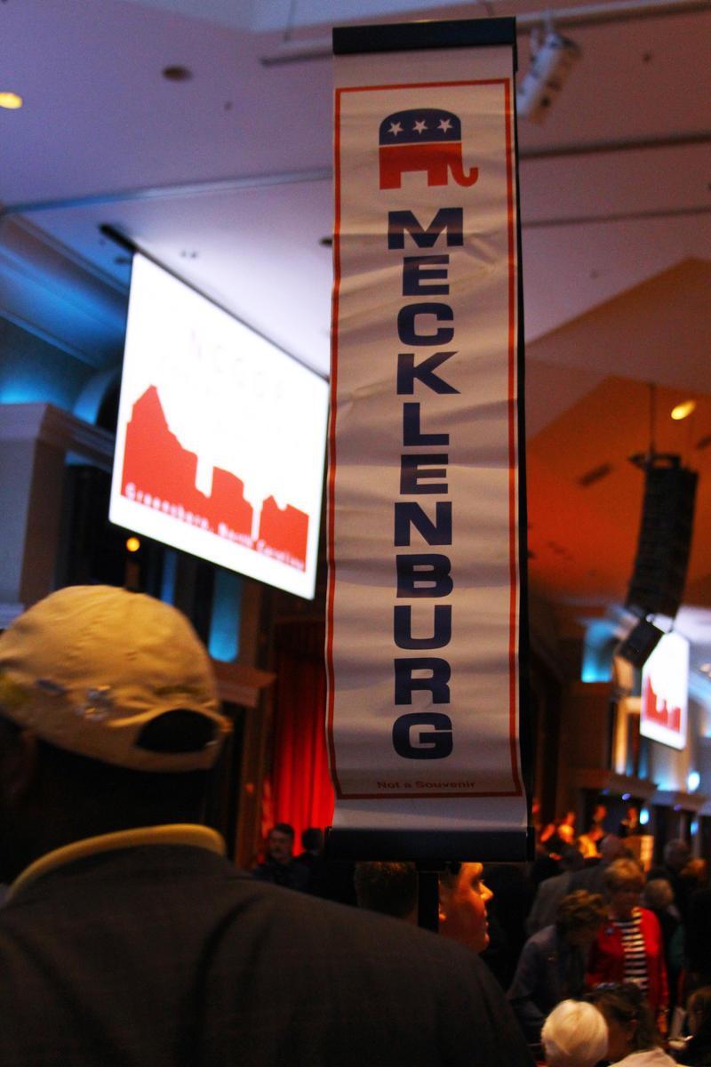 Standard marking the Mecklenburg County Delegation